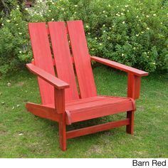 Acacia Hardwood Natural Square Back Adirondack Chair - Overstock™ Shopping - Big Discounts on International Caravan Sofas, Chairs & Sectionals