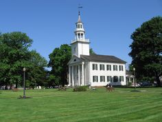 visit the Tallmadge Church, Tallmadge, Ohio, set on a circle in middle of the town.