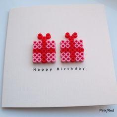 Birthday card - Hama beads