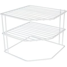Mainstays 3-Tier Corner Shelf, White (For lazy susan shelves)