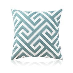 Nordic Modern Stereo Embroidery Maze Pattern Water Blue Pillow Sofa Office Bedroom Pillow
