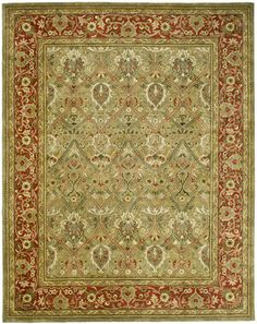 $829  8x11    Safavieh Persian Legend II PL-819 Light Green / Rust (B) Area Rugs