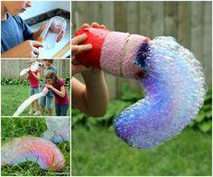 DIY Rainbow Bubble Snakes