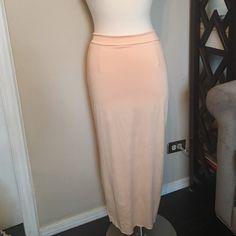 Peach Skirt NWOT Back zip. Slit up the back. Skirts