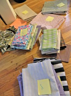 How to Sell Fabric on Ebay.  Three of my five bundles sold earning me about $30!