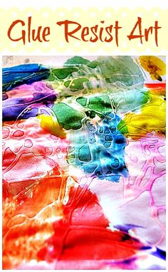 Fun art activity using glue. Create beautiful open ended art work..  from Blog Me Mom