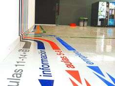 Diseño de rotulación y señalética de la sede de Forem Navarra.