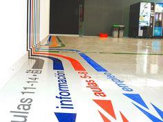 floor wayfinding lines | Designer: ForemROT 3