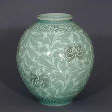 Black Lotus Celadon Jar