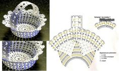 Once you are on the net you will get a better understanding about the right modele crochets. Filet Crochet, Crochet Motif, Owl Basket, Cardigan Bebe, Easter Crochet Patterns, Love Crochet, Easter Baskets, Easter Crafts, Crochet Projects