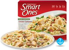 3 - I include protein in my diet by eating a lot of chicken with dishes such as - Chicken Carbonara - Weight Watchers® Smart Ones® Best Frozen Meals, Healthy Frozen Meals, Weight Watchers Smart Ones, Weight Watchers Meals, Chicken Carbonara, Lean Cuisine, Eat Smart, White Meat, Diet Recipes