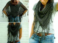 Knitted Scarf Free Pattern Lots Of Gorgeous Ideas – papuca Finger Knitting, Loom Knitting, Free Knitting, Knitting Machine, Knitted Shawls, Crochet Scarves, Lace Shawls, Knit Cowl, Baby Knitting Patterns