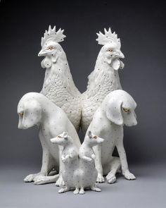 Sculpture Art, Garden Sculpture, Sculptures, Animal Games, North America, Clay, Statue, Gallery, Animals