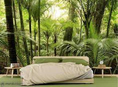 Lush Foliage in a Tropical Jungle | Buy Prepasted Wallpaper Murals Online - Muralunique.com