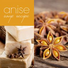 ANISE SOAP RECIPE  1/4 c. anise seeds 1/4 c. lard or tallow 3/4 c. tallow 1/4 c. vegetable oil 1/2 c. cold soft water 2 tbsp. lye (NaOH)