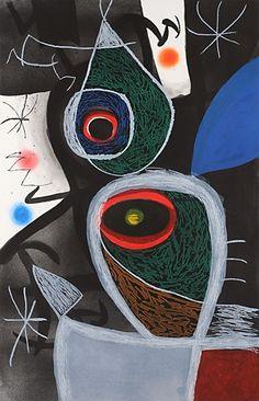 Joan Miró ~ Le Somnambule, 1974 (original etching and aquatint) Spanish Painters, Spanish Artists, Art Beauté, Modern Art, Contemporary Art, Hieronymus Bosch, Paul Klee, Wow Art, Art Graphique