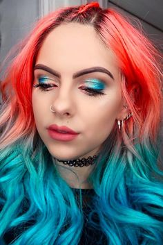These Beauty Babes Will Convince You to Coordinate Your Rainbow Hair and Makeup