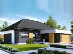 Find home projects from professionals for ideas & inspiration. Projekt domu HomeKONCEPT 27 by HomeKONCEPT Contemporary House Plans, Modern House Plans, Small House Plans, My Home Design, Home Design Plans, Modern House Design, Beautiful House Plans, Beautiful Homes, Style At Home