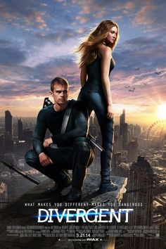 Shailene Woodley & Theo James: New 'Divergent' Poster!: Photo Check out this brand new poster for the highly anticipated movie Divergent featuring Shailene Woodley and Theo James. New character posters were also released… Divergent Movie Poster, Watch Divergent, Divergent 2014, Divergent Factions, Divergent Trilogy, Divergent Series Movies, Insurgent Movie, Divergent Fandom, Divergent Book Cover