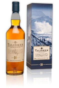 Talisker Scotch Whisky -  10 year old, Smoky flavor highlighting the peated malt and pure water from the hills surrounding the distillery on the Isle of Skye.