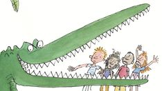 Roald Dahl's The Enormous Crocodile, illustrated by Quentin Blake. Roald Dahl Day, Roald Dahl Quotes, Roald Dahl Books, Crocodile Craft, Crocodile Rock, Roald Dahl Activities, Book Activities, Teaching Resources, Teaching Ideas