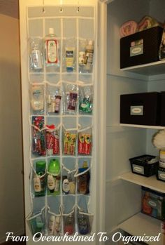 20 Nifty New Uses for Your Hanging Shoe Organizer - zahnpasta Linen Closet Organization, Bathroom Organisation, Bathroom Storage, Bathroom Shelves, Bathroom Ideas, Bathroom Closet, Closet Shelves, Simple Bathroom, Lifehacks