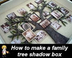 DIY Family Tree Shadow Box -