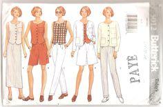 1990' Patron Butterick  5012 Today's Wardrobe Garde-robe d'été femme Couture Taille 6-8-10 Vêtements Veste pantalon Bermuda Jupe Blouse by aBirdOnMyHead on Etsy
