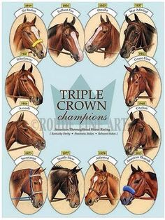 An updated poster of the Triple Crown Winners