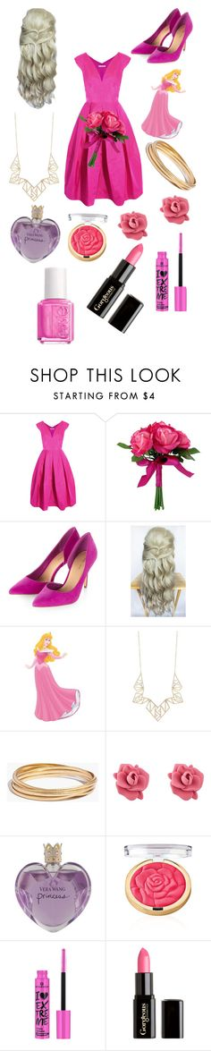 """""""Bridesmaid aurora~Peeta"""" by the-capitol-favorites ❤ liked on Polyvore featuring Antonio Berardi, Panacea, Madewell, Marc by Marc Jacobs, Vera Wang, Gorgeous Cosmetics and Essie"""