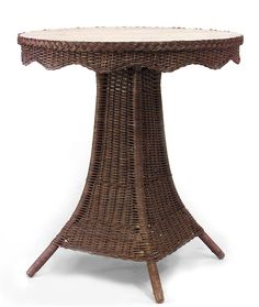 Wicker Mission table center table natural