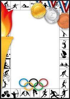 teken jouw winnaar: Kids Olympics, Winter Olympics, Page Borders Design, Border Design, Borders For Paper, Borders And Frames, Page Boarders, School Border, School Frame