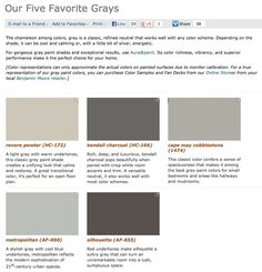 Favorite, popular, & best selling shades of gray paint colors from Benjamin Moore.