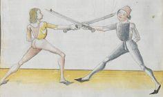 Lecküchner, Hans: Kunst des Messerfechtens Nordbayern, 1482 Cgm 582 Folio 80