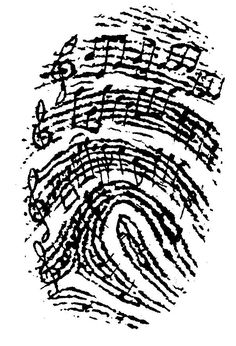 Music as Identity – for junior high and college, too! It would be awesome to use someone you love's fingerprint and notes from a song that makes you think of them, incorporated into a tattoo… Music Is Life, My Music, Music Heart, Music Flow, Music Guitar, Ukulele, Music Tattoos, Sheet Music Tattoo, Sheet Music Art