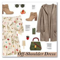 """Spring Trend: Off-Shoulder Dresses"" by kays-fashion-escape ❤ liked on Polyvore featuring Fendi, H&M, Sole Society, Burberry, Shrimps, Native Union, Oliver Spencer, dress, polyvorecommunity and polyvorecontest"