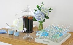 Lovely drink station   Glorious Treats » Vintage Bunting Baby Shower