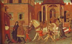 The transport of the cassoni (1480). More info on cassoni following the link.