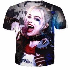 This beautiful graphic Tee is sure to please Harley Quinn fanatics! Choose your…