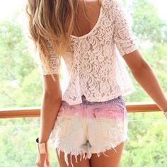 dip dye ombre shorts