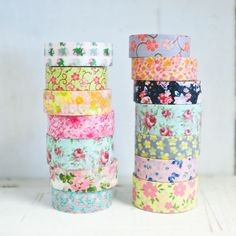 floral washi tapes #washi #tape