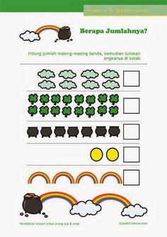 belajar menghitung angka 1-20, matematika dasar untuk paud/tk/balita Montessori Math, Preschool Activities, Math Worksheets, Pre School, Kids Learning, Kids And Parenting, Diy Toys, Jun, Counting