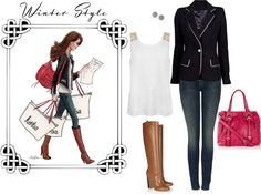 """""""Winter style"""" by aannf ❤ liked on Polyvore"""