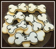 Dog Bone Cookies Custom Cookies by Cousin's Creations - Cousin's Creations