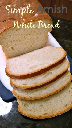 Simple Amish White Bread- The egg bread recipe is awesome! I used a heaping Tablespoon of yeast.  Tweaked Again-half unbleached AP, half whole wheat, 2 Tablespoons yeast, unprocessed sugar. Made great buns.