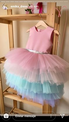 Girls Frock Design, Baby Dress Design, Baby Girl Dress Patterns, Stylish Dresses For Girls, Little Girl Dresses, Girls Dresses, Unicorn Dress Girls, Baby Pageant Dresses, Baby Girl Birthday Dress