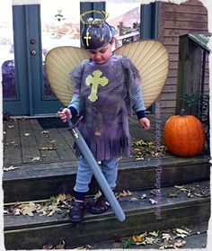 St. Michael the Archangel dress up costume. .   .  http://designsbybirgit.blogspot.com/2013/10/st-michael-archangel-costume-for.html