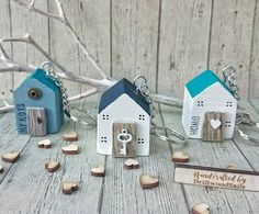 This item is unavailable Beach Crafts, Crafts To Do, Hobbies And Crafts, Driftwood Crafts, Wooden Crafts, House Keyring, Wood House Design, Wooden Keychain, Wood Anniversary Gift