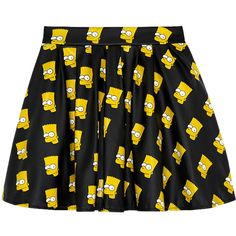 Bart Simpson PU Skirt (160 BRL) ❤ liked on Polyvore featuring skirts, mini skirts, bottoms, saias, faldas and bart simpson skirt