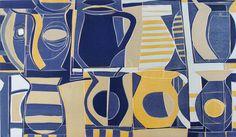 Cafe. Lino Print by Hannah Hann